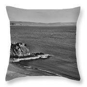 Goscar Rock Tenby Mono Throw Pillow