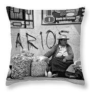 Gossip Time Monochrome Throw Pillow