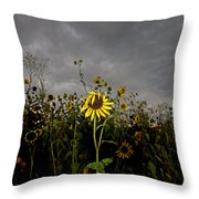 Goth Sunflower Throw Pillow