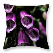 Gothic Bell Flower Throw Pillow