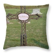 Gothic Grave Marker Throw Pillow