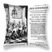Gourmands Almanac, 1806 Throw Pillow