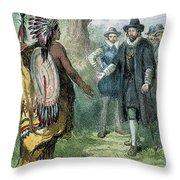 Governor John Winthrop Throw Pillow