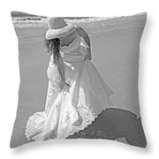 Gown Gathering Throw Pillow