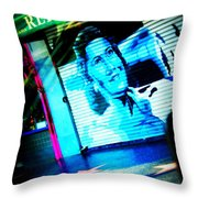 Grab A Star On Sunset Boulevard In Hollywood Throw Pillow