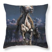 Grab The Fast Horse Throw Pillow
