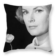 Grace Kelly (1928-1982) Throw Pillow