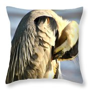 Graceful Contemplation Throw Pillow