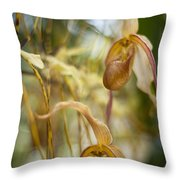 Graceful Orchids Throw Pillow