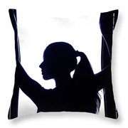 Graceful Silhouette Throw Pillow