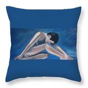 Gracefully Blue Throw Pillow