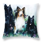 Gracie Abbey And Bella Throw Pillow