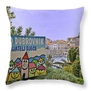 Grad Dubrovnik Throw Pillow