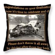 Graduation Card Throw Pillow