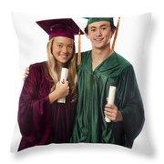 Graduation Couple Iv Throw Pillow