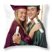 Graduation Couple Throw Pillow