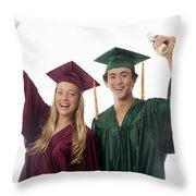 Graduation Couple V Throw Pillow