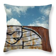 Graffiti Monster Throw Pillow