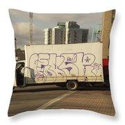 Graffiti Truck Throw Pillow