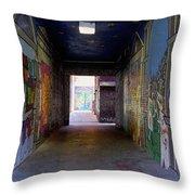 Graffiti Walkway Throw Pillow