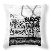 Graffiti Wall Throw Pillow