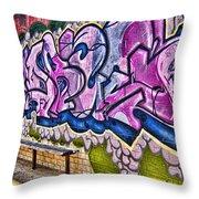 Graffitti-lets Gambl Make Dollars Throw Pillow