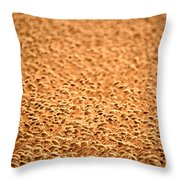 grain crop ripening in Saskatchewan Throw Pillow