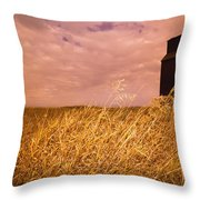 Grain Elevator And Crop Throw Pillow