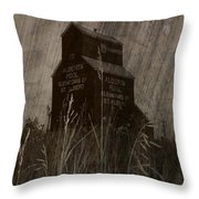 Grain Elevator Throw Pillow
