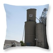 Grain Processing Facility In Shirley Illinois 3 Throw Pillow