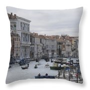 Gran Canal. Venice Throw Pillow by Bernard Jaubert