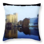 Grand Canal, Dublin, Co Dublin, Ireland Throw Pillow