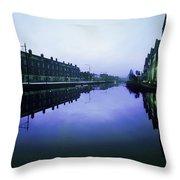 Grand Canal, Portobello, Dublin, Co Throw Pillow