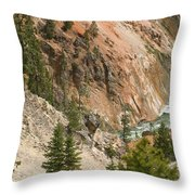 Grand Canyon And Yellowstone River Throw Pillow