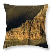 Grand Canyon Bathed In Light Throw Pillow