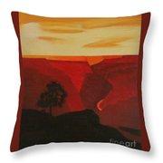 Grand Canyon Contemporary 1 Throw Pillow
