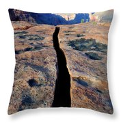 Grand Canyon Dividing Line Throw Pillow
