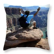 Grand Canyon Feeling All Right Throw Pillow