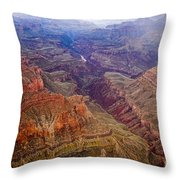 Grand Canyon Morning Scenic View Throw Pillow