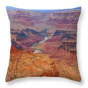 Grand Canyon Nationa Park Painting Throw Pillow