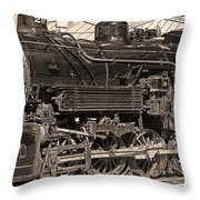 Grand Canyon Railroad Locomotive Throw Pillow