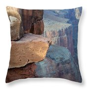 Grand Canyon Raw Nature Throw Pillow