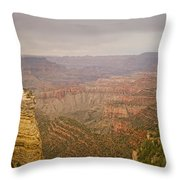 Grand Canyon Scenic Overlook View Throw Pillow