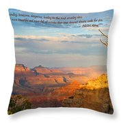 Grand Canyon Splendor - With Quote Throw Pillow