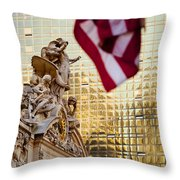 Grand Central Flag Throw Pillow