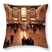 Grand Central Terminal Throw Pillow