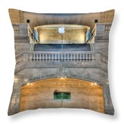 Grand Central Terminal East Balcony I Throw Pillow