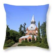 Grand Chapel In Central Cemetery Szczecin Poland Throw Pillow