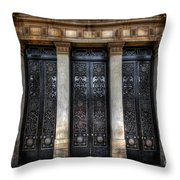 Grand Door - Leeds Town Hall Throw Pillow