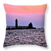 Grand Haven Michigan Throw Pillow
